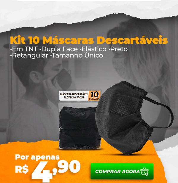 Kit 10 Máscaras Descartáveis