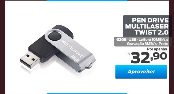 Pen Drive Multilaser Twist 2.0